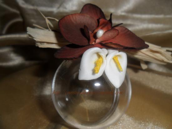 boule de dragées thème orchidée arum