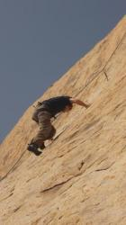 Struggling in the middle of the line - Joshua Tree NP