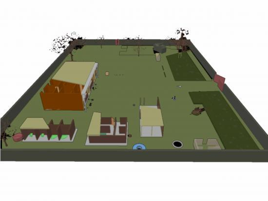 Le Plan 3D D'un Orphelinat