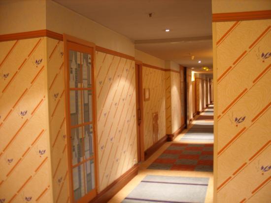 Un couloir déservant les chambres