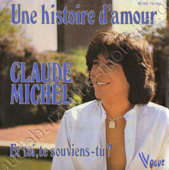 """45 T Claude michel """"Une histoire d'amour"""" 1976"""