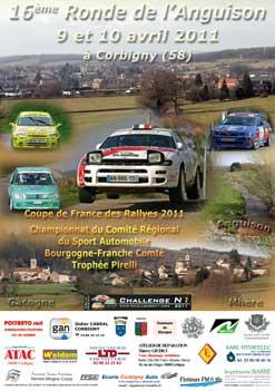 Affiche de la 16ème Ronde Régionale de l'Anguison