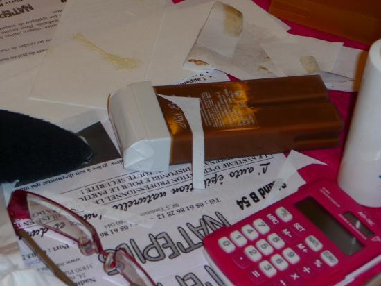 Epilation au chocolat