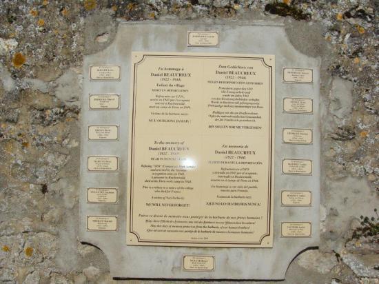 Lieu de commémoration Baulne en Brie