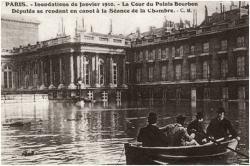 Crue de Paris en 1910 : La palais Bourbon