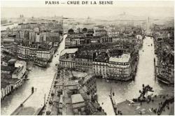 Crue de Paris en 1910 : vue générale