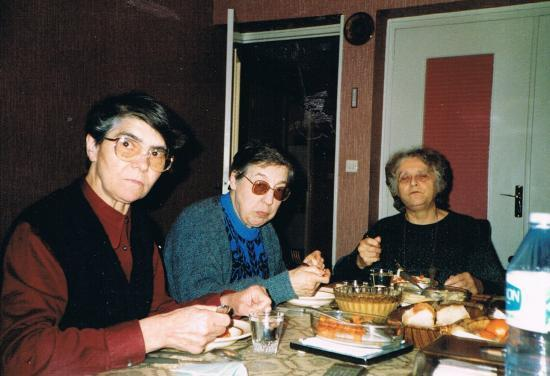 Srs Emiliani Chapon, Faustin Siffert  et  Marie Debart