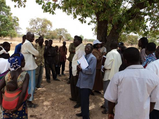Rencontre avec la population à Tarkoudtenga