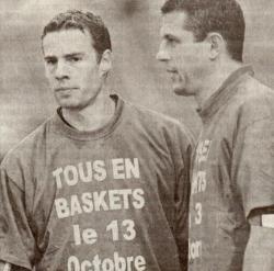 Bertrand Laquait et Paul Fisher en avant-match