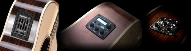 Pré-ampli d'éclisse pour guitare classique et guitare folk
