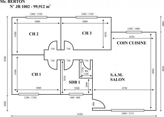 Plan de maison gratuit pdf for Model de plan de maison
