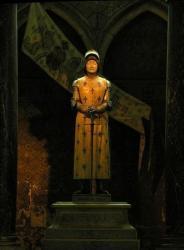 Statue dans la cathédrale de Reims