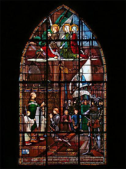 Vitrail de l'église Saint-Jacques, Compiègne