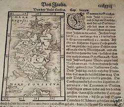 carte de la Corse de Sébastien Münster 1561