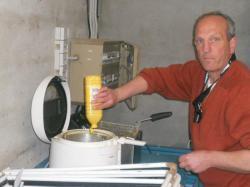 Préparation des frites par André
