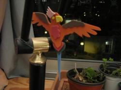 perroquet en mousse