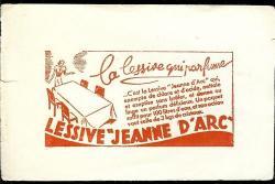 BUVARD Lessive JEANNE D'ARC