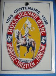 Petite plaque émaillée Jeanne-d' Arc 4° Cuirassiers ?