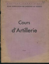 COURS D' ARTILLERIE CROISEUR JEANNE D'ARC 1947 MARINE