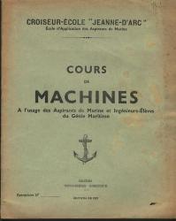 COURS DE MACHINE JEANNE D' ARC MARINE 1937