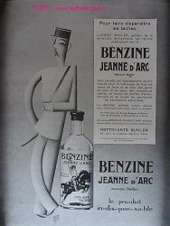 PUBLICITE BENZINE JEANNE D'ARC GENDARME GARETTO 1929