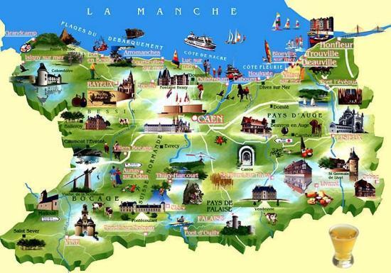 Normandie pour la vie  Cartecalvadosactivites
