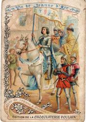 Chromo Chocolaterie POULAIN La vie de Jeanne d'Arc