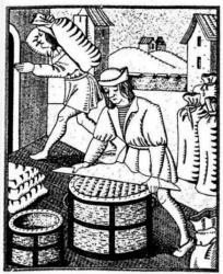 Radeur : officier des gabelles, dont la fonction consistait à mesurer le sel. en le rasant sur le minot.