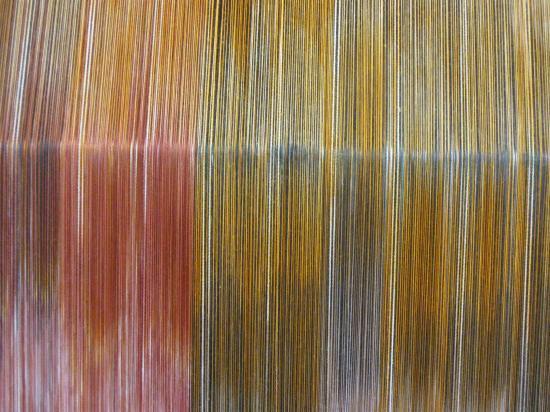 les couleurs sur l'ensouple