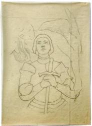 Maurice G osselin : naquit en 1876 à Rouen, et décéda en 1931 à Mont-Saint-Aignan.  Il est le fils d'un avoué de Pont-Audmer, issu lui même de familles rouennaises.  Après des études faites à Rouen dans l'atelier de Zacharie, il entre  à Paris dans l'atelier de Bougueureau et Ferrier.