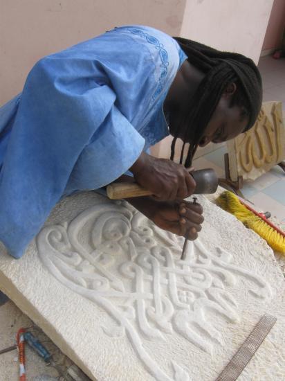 Dogon sculpteur sur pierre