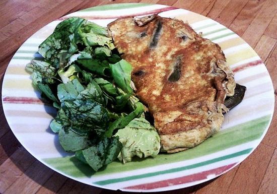 Omelette aux artichauts