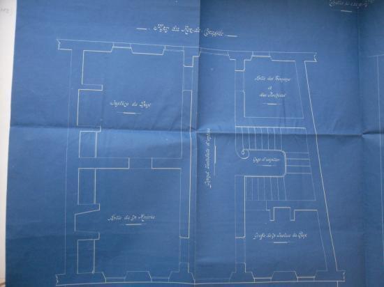 Plan du rez de chaussée de la mairie de Castelnau R-B