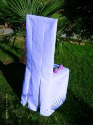 Housse de chaise droite en piqué de coton