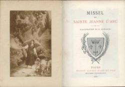 Missel de Sainte Jeanne D'arc Editeur:Mame Année:1921 Taille:in12 Reliure:relié cuir maron Pages:324 Référence:62915