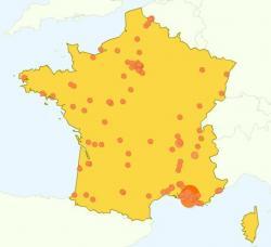 Carte de France des visites