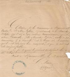 Vieux papier de 1881