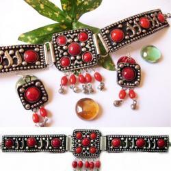 Ras de Cou Tribal Ethnique Rouge 14,50 €