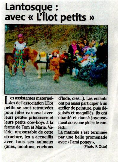 Article Nice-Matin carnaval 2011