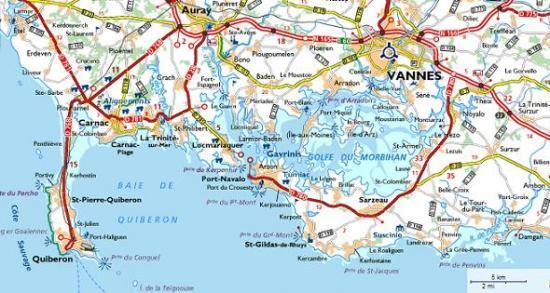 Acces situation - Port saint jacques morbihan ...