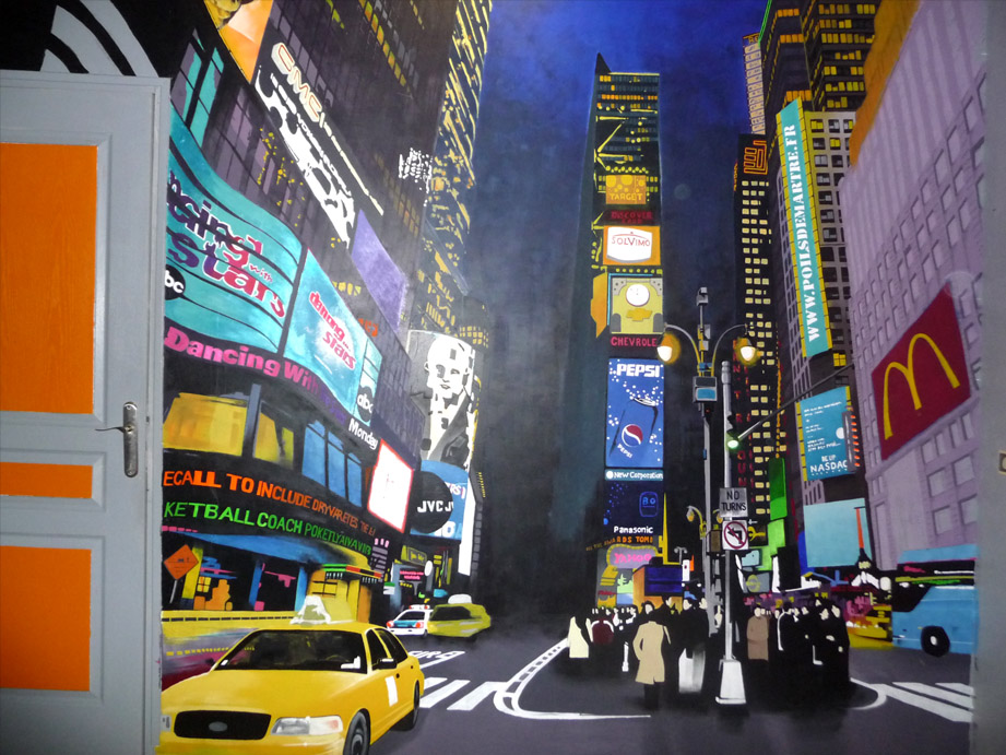 Peinture murale new york Decoration new york chambre
