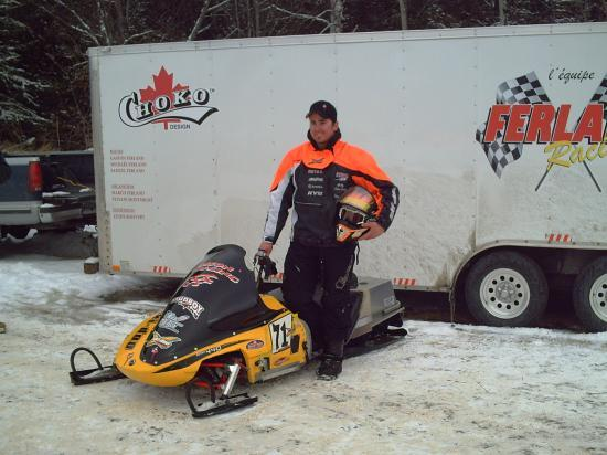 Snowmobile Ice Oval Racing