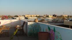 Terrasse avec vue sur le Nil.