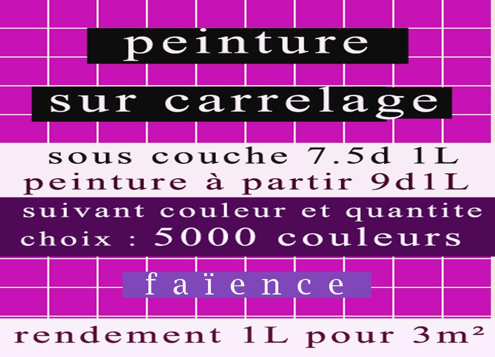 Peinture sur carrelage et fa ence tunisie goulette colors for Peinture sur faience