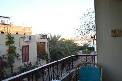 vue du balcon (au fond le Nil).