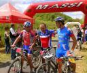 Les trois premiers de l'épreuve Elite : Thierry BARRERE, Olivier LHOSTE, et Yannick MARIE