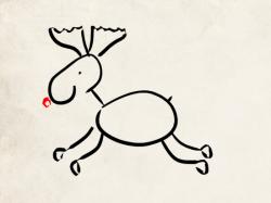 dessin de renne de noël
