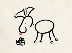 dessin renne de Noêl