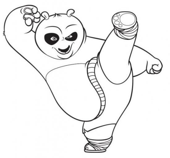 Coloriages - Coloriage kung fu panda ...