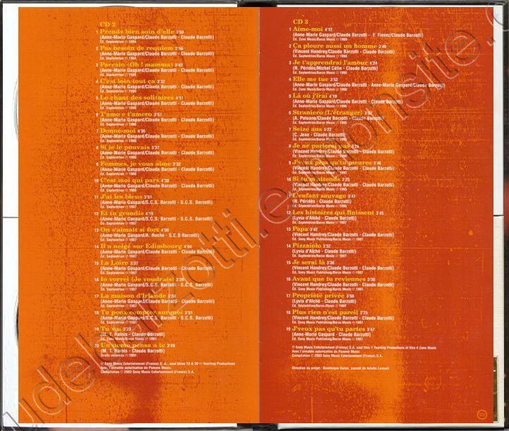 livret pages  22 & 23 , 24  et CD 3